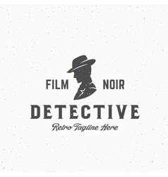 Film Noir Detective Abstract Vintage Emblem vector