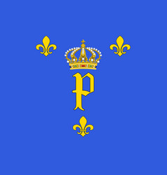 Flag of peronne in somme of hauts-de-france is a vector