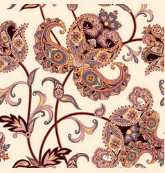 Floral seamless background oriental ornament vector