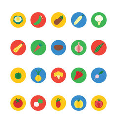 Fruit and Vegetable Icons 4 vector image