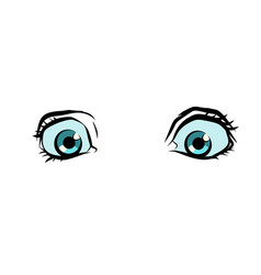 Funny cartoon eyes vector