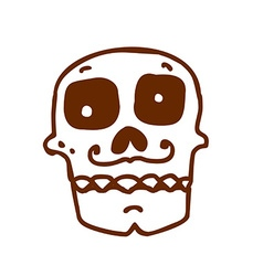 Hand Drawn Day of the Dead Cartoon vector