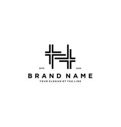 House plan logo design vector