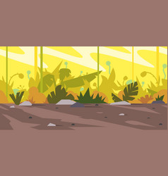 jungle game background landscape vector image