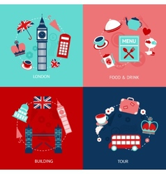 London decorative set vector image