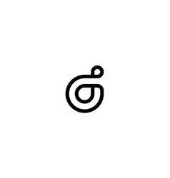 lowercase d logo design concept vector image