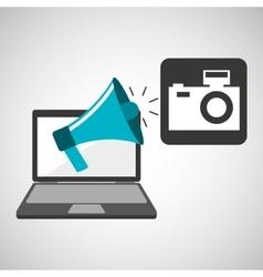 marketing digital photo camera concept vector image