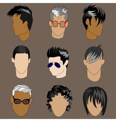 Mens Head vector image