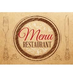 Menu Restaurant Kraft vector