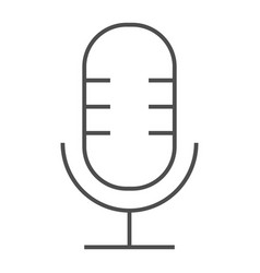 microphone thin line icon musical and audio vector image