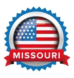 Missouri and USA flag badge vector image
