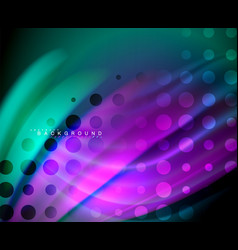 neon holographic fluid color wave for web vector image