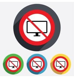 No computer widescreen monitor sign icon vector
