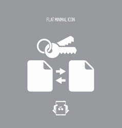 protected data transfer - minimal flat icon vector image