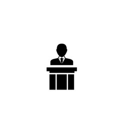 public speaker flat icon vector image