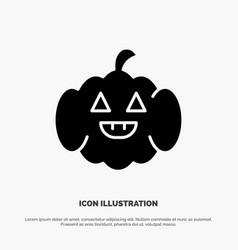 Pumpkin american usa solid glyph icon vector