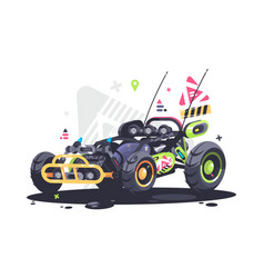 Racing car buggy vector