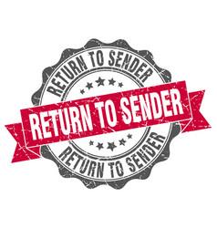 Return to sender stamp sign seal vector