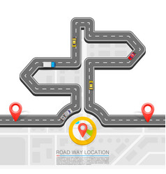 road direction paved path on the road direction vector image