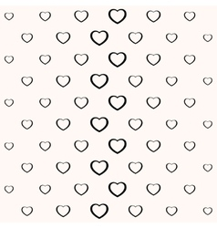 Seamless simple minimalistic heart background vector image