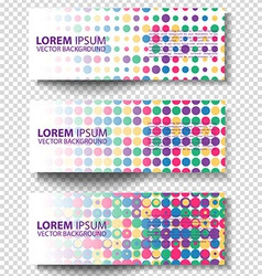 set colored rectangular banners vector image
