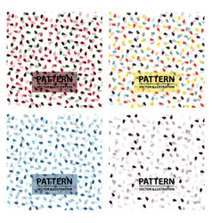 Set of shades of pattern with drops seamless vector