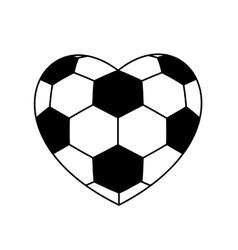 Soccer ball heart vector