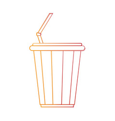 soda in disposable cup icon image vector image