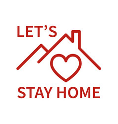 Stay home icon vector