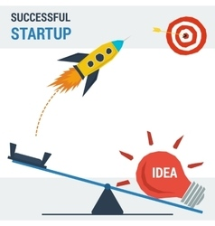 Successful start up concept vector image