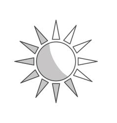 Sun shape icon vector