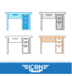 table office icon vector image