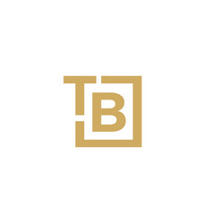 tb letter mark logo icon vector image