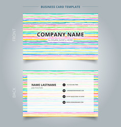 template name card hand draw horizontal pattern vector image