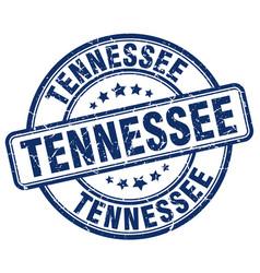 Tennessee blue grunge round vintage rubber stamp vector