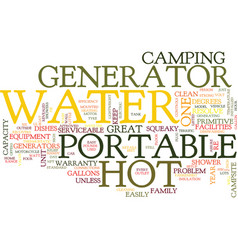 the best hot water portable generator revealed vector image