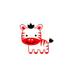 tiger cartoon cute vector image