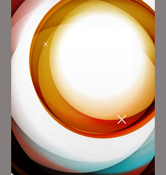 transparent color wave lines abstract vector image