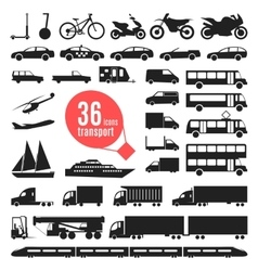 transportation items City vector image