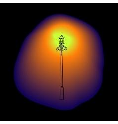 Vintage night street lamp vector