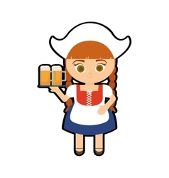 woman traditional oktoberfest germany icon vector image