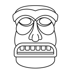 Wood tiki idol icon outline style vector