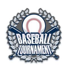 baseball tournament template vector image