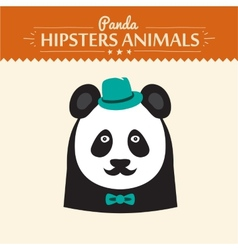 Flat Style Panda Emoticons Set Isolated vector image vector image
