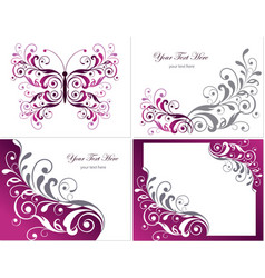 Floral Graphics Design Elements vector image
