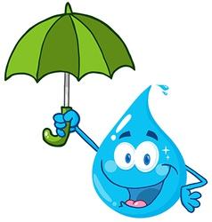 Water Drop With Umbrella vector image vector image