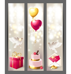 wedding vertical banners vector image vector image