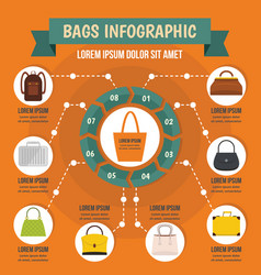 bags infographic concept flat style vector image vector image