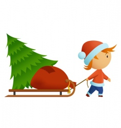 Christmas hat vector image vector image