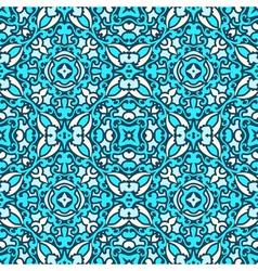 Damask blue pattern vector image vector image